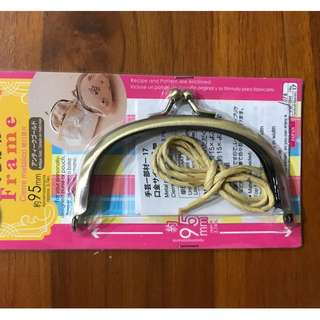 DIY Metal Handle Frame for purse pouch bag