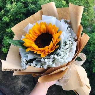 Graduation Bouquet | Flower Bouquet | Sunflower Bouquet
