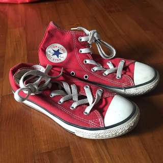 Authentic Converse Kids High Cut Sneakers