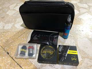 Jual sepaket murah alat2 vapor, liquid, atomizer, cotton bacon