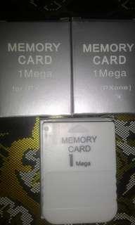 PSOne 1mb memory card