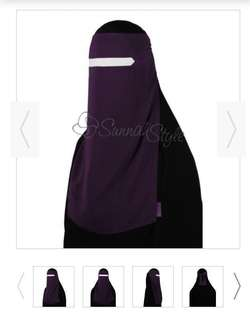(Reduced price) Sunnah Style No-Pinch One Piece Niqab
