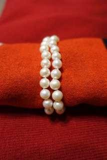 母親節首選 南洋珍珠手鍊(雙層)