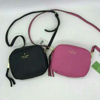 KATE SPADE CROSS BODY BAG BLACK & PINK AVAILABLE !