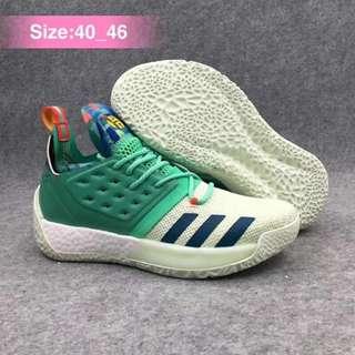 Adidas哈登2代 真爆米花實戰籃球鞋 全明星配色