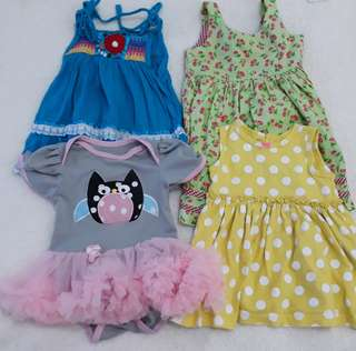 Bundle Dresses for baby girl
