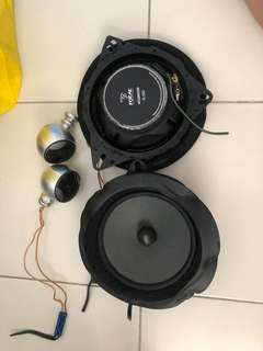 Car audio Active 2 way set up