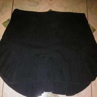 Black Deconstructed Skirt