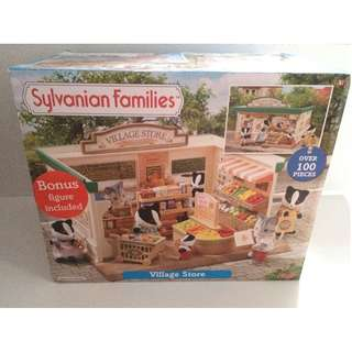 SYLVANIAN FAMILIES VILLAGE STORE with LOTS OF ACCESSORIES In Box