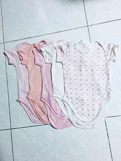 5 pcs Uniqlo Baby Girl Romper