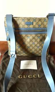 Brand new Authentic Gucci Baby blue Sling Bag from.Italy
