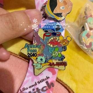 絕版 散買 史迪仔 小甘 甘仔 2010 年 迪士尼徽章 disney pin trading stitch scrump 奇妙處處通會員限定 三個pin可連粉紅色pin badge 同史迪仔証件套一起出售