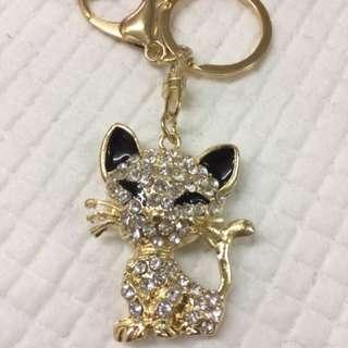 Cat bagcharm keychain