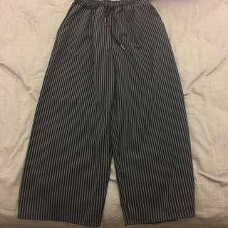 🚚 網拍直條紋寬褲
