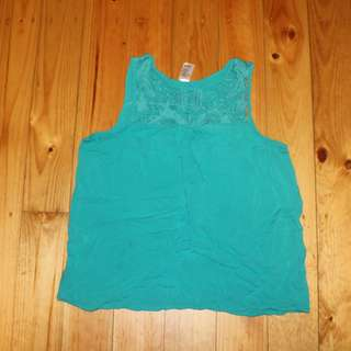 Green Top With Detail