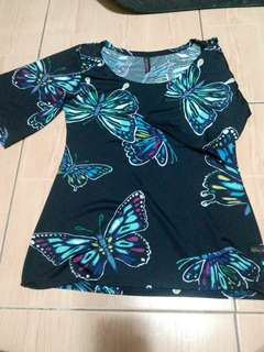 Batwing mid rib blouse