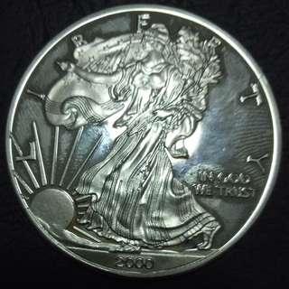 USA  2000 Walking Liberty One Dollar Commemorative Coins