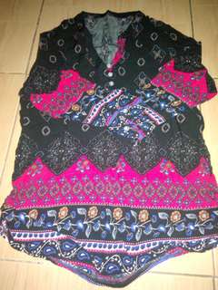 Astec/ boho 3/4 blouse