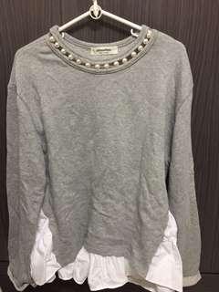 圓領長袖衫,Made in Korea 因買了不合身未穿過