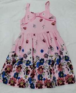 Little Miss Floral Pink Dress