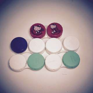 CONTACT LENS CASES TEMPAT CONTACT LENS SET OF 5