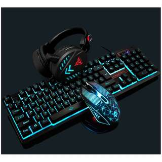 (All-in-Bundle) Gaming Keyboard+Mouse+Headset