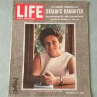 1960s 史太林女兒專訪 英文雜誌