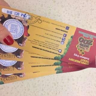 KL Tower Mini Zoo Tickets (4 tickets)