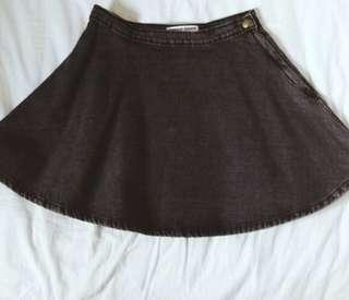 American Apperal denim circle skirt