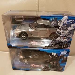 Transformer alternity nissan gtr convoy ultimate metal silver and super black