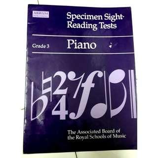 Piano music sight reading