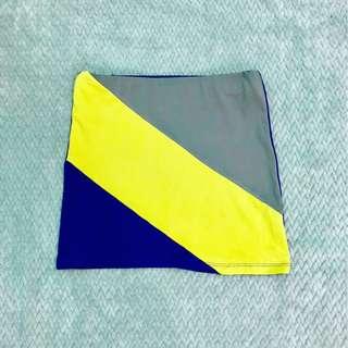 Colorblock bandage skirt