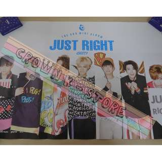 [CRAZY DEAL 90% OFF FROM ORIGINAL PRICE][READY STOCK]GOT7 KOREA OFFICIAL POSTER!!NEW! OFFICIAL ORIGINAL FROM KOREA (SELAED) (PRICE NOT INCLUDE POSTAGE) SHIP USING TUBE