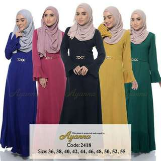 Ermina Pleated Jubah 2418