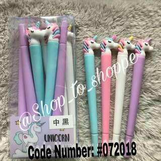 Unicorn pens (pastel colors)