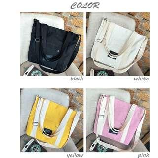 Korea Trendy Canvas Bag/Ladies Bag/Handbag/Shoulder Bag/Tote/Sling Bag/Crossbody Bag I