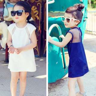 Girls Long T Short sleeve dresses