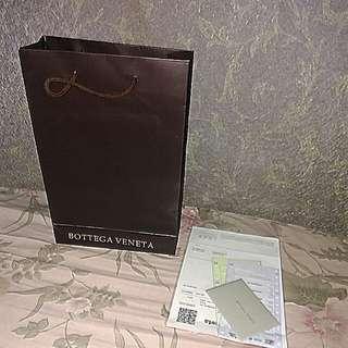 Bottega venetta paperbag, certificate & fake bill