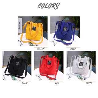 Korea Trendy Canvas Bag/Ladies Bag/Handbag/Shoulder Bag/Tote/Sling Bag/Crossbody Bag