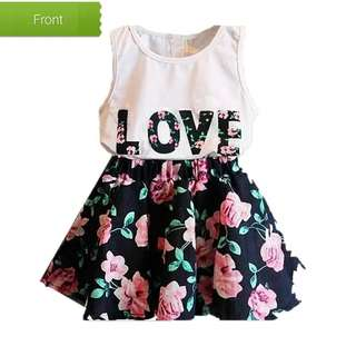 Floral top and skirt for 4 years old