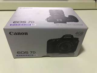 Canon EOS 7D USB 4GB手指(非賣品)