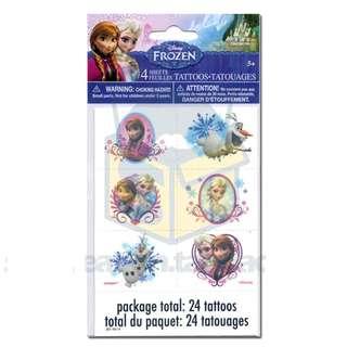 ❄️ Licensed Premium Range Frozen Party Supplies - Frozen party tattoos / party favors