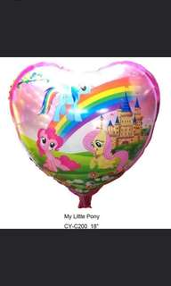 50 My Little Pony Heart Balloons