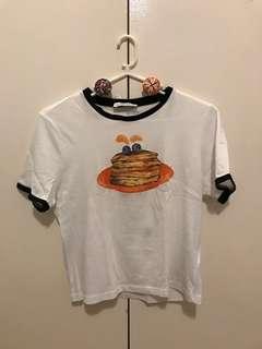 Zara Pancakes Ringer Tee