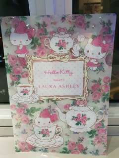 Authentic Sanrio Laura Ashley x Hello Kitty A4 Folders