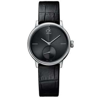 ACCENT BLACK LEATHER LADIES' WATCH K2Y231C3