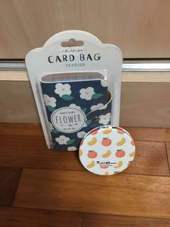 Card bag and mirror