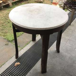 Antique Round Marble Table