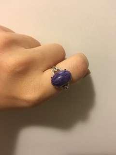 紫龍晶銀戒指