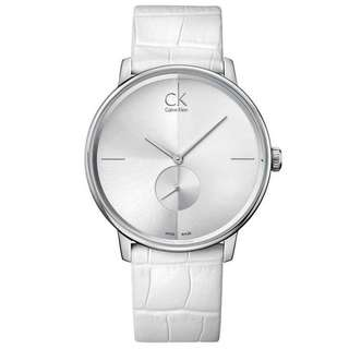 ACCENT WHITE LEATHER UNISEX WATCH K2Y211K6